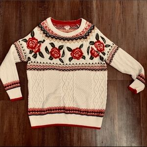 Rose knitted sweater